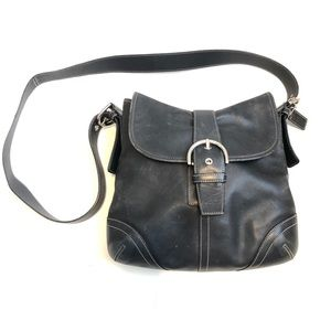 Coach Black Leather Crossbody Purse Shoulder Bag